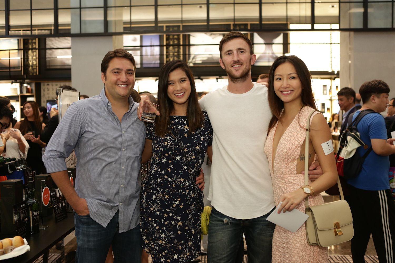Nathan and Kelly Saper, Dylan Tyack and Dorian Cheong