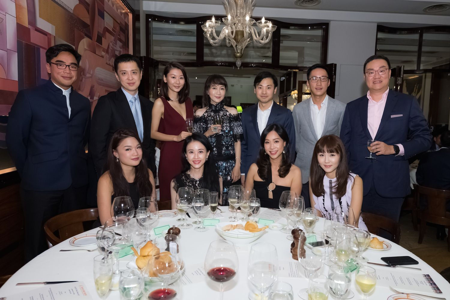 Standing: Ivan Ting, Jeff and Tobee Lau, Anna Hu, Honus Tandijono, Evan Chow and Wilson Pong. | Seated: Queenie Rosita Law, Jacqueline Chow, Angie Ting and Helena Pong