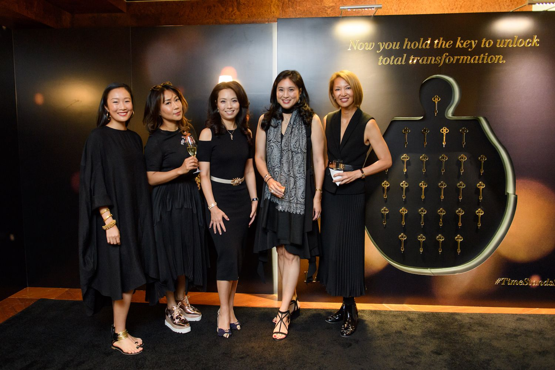 Chelsea Chau-Kuok, Sharie Ross-Tse, Anne Wang-Liu, Leigh Tung-Chou and Yolanda Choy-Tang