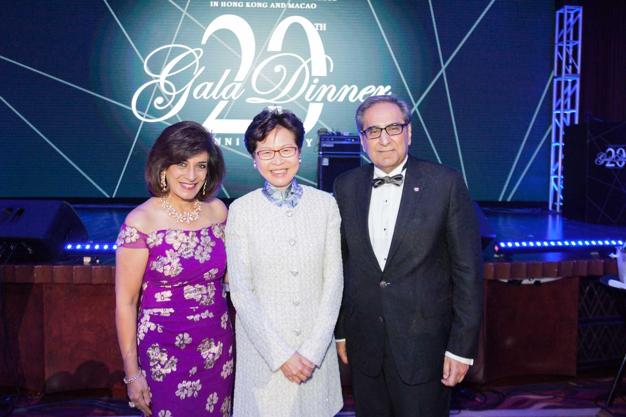 Avisha Harilela, Carrie Lam, David Harilela