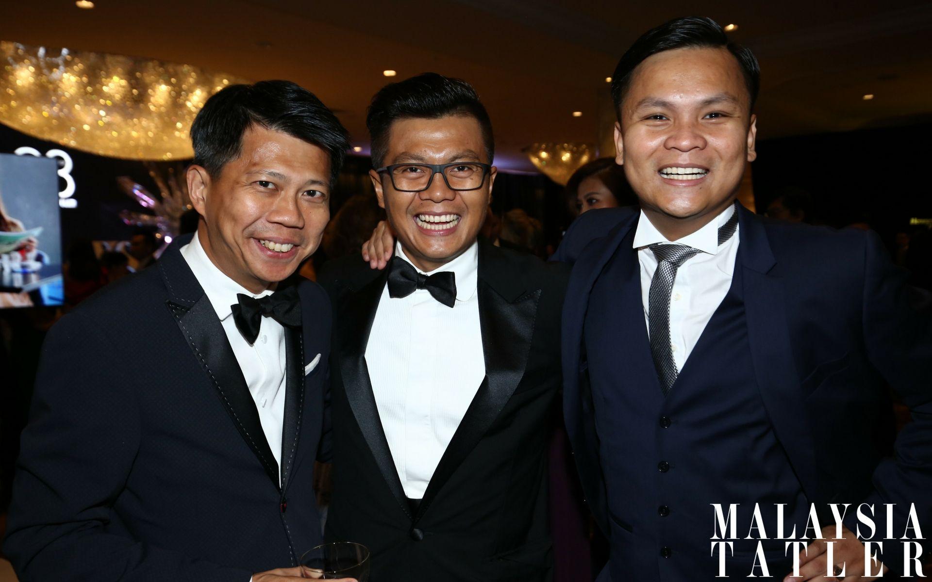 Dato' Michael Tang, Ewan Saufi Abas and Muhammad Rahmat Geneid