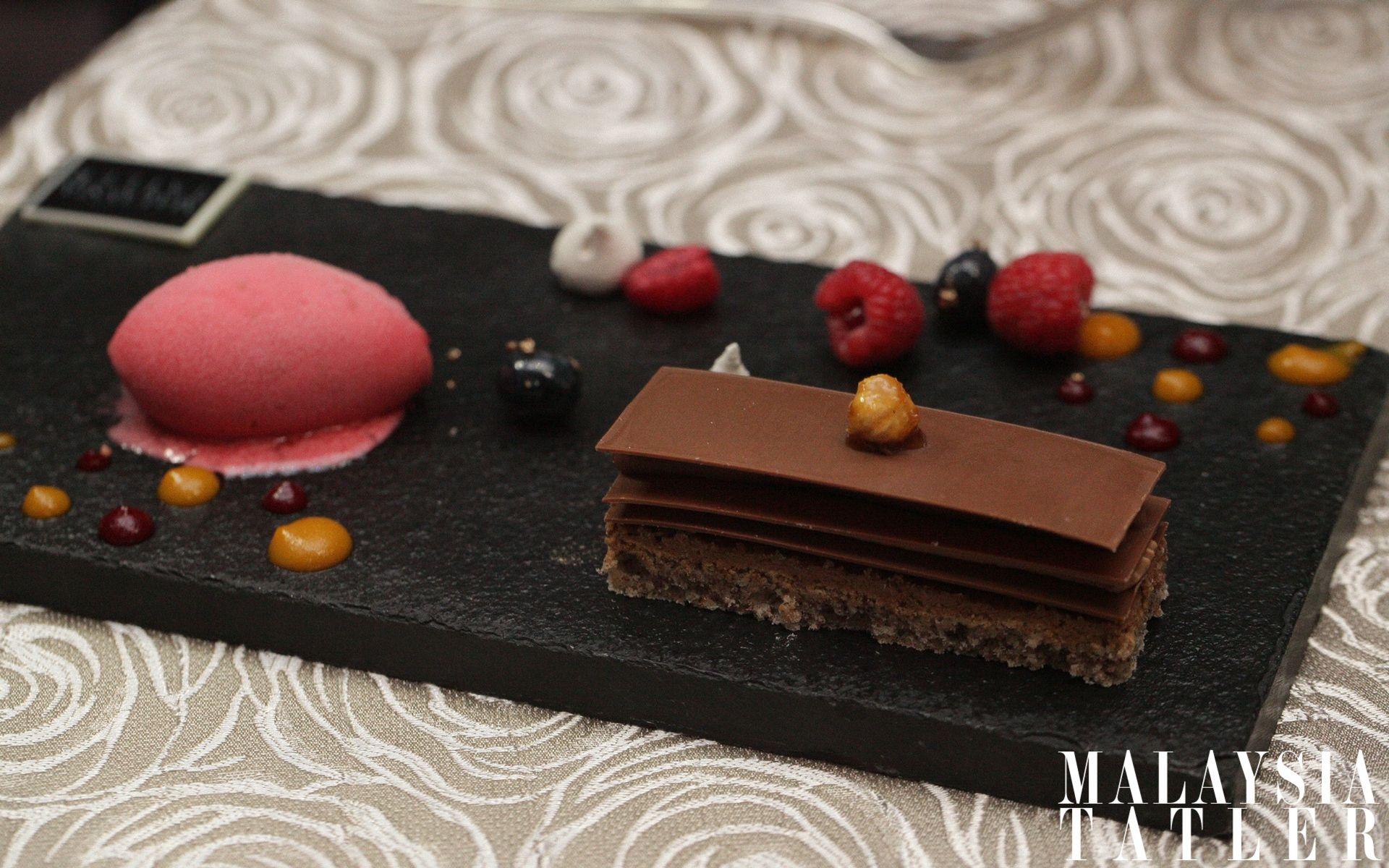 Chocolate and hazelnut dessert