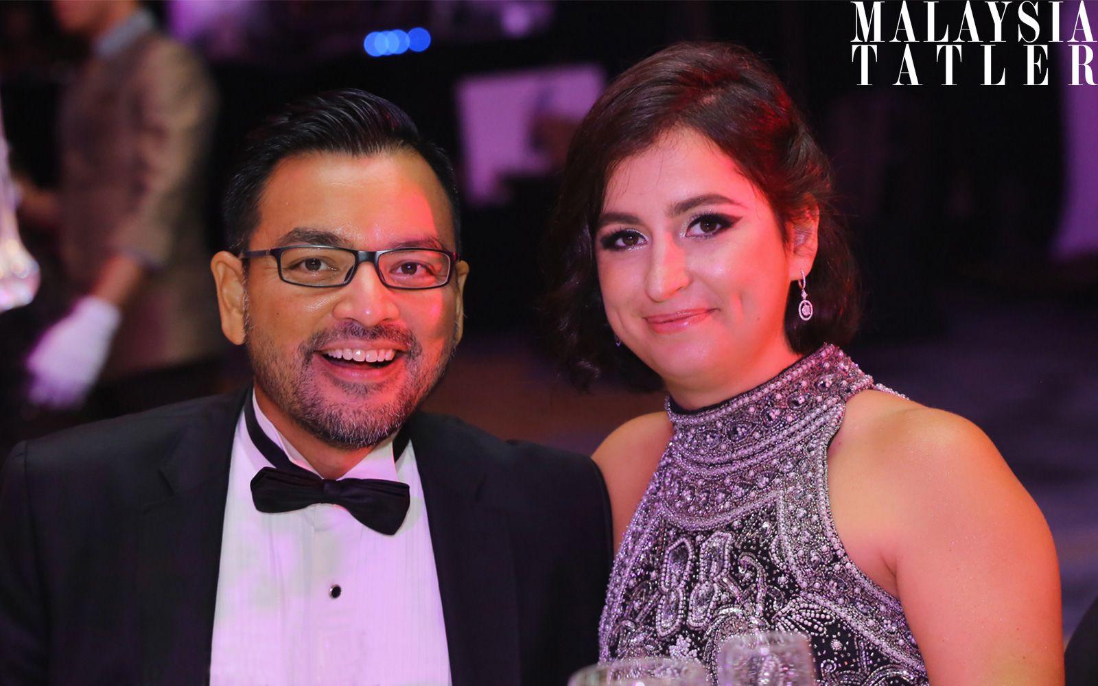 Tunku Danny Mudzaffar and Che Puan Claire Rania Moore