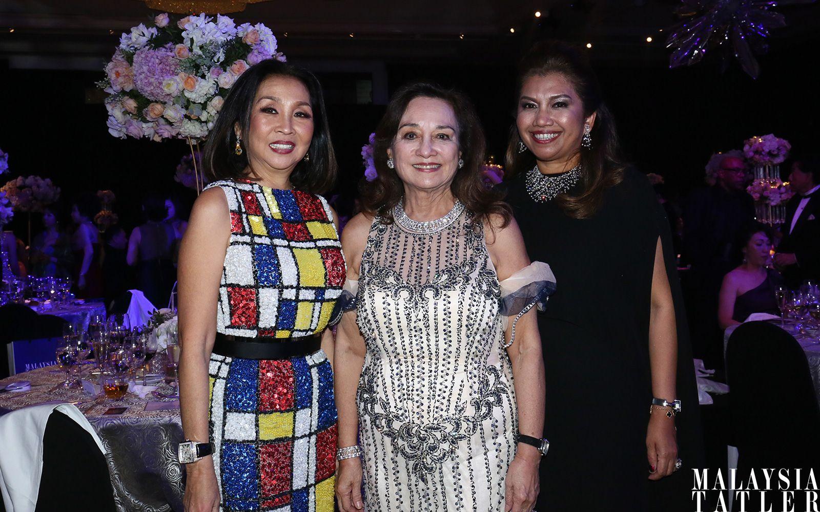 Dato' Farah Khan, Tunku Dara Naquiah and Datin Alissa Fitri