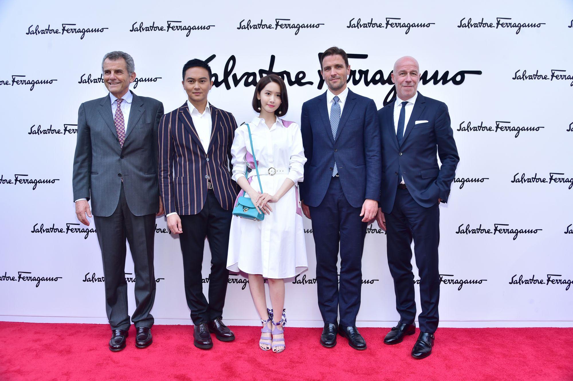 Ferruccio Ferragamo, Julian Cheung, Yoona Lim,James Ferragamo,Eraldo Poletto