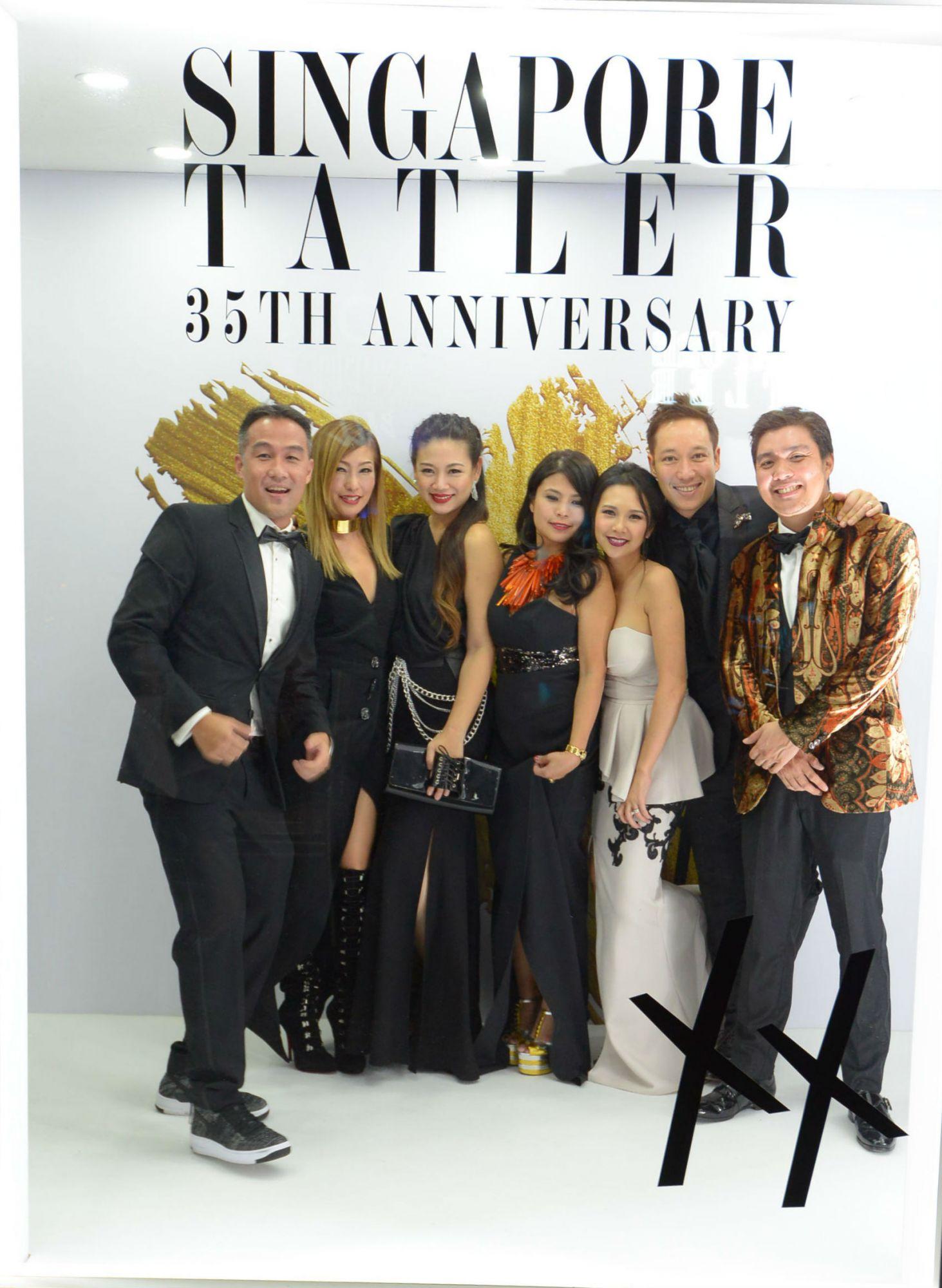 John Lim, Tan Min-Li, Tjin Lee, Marilyn Lum, Belinda Huber, Andre Huber, Shaun Tay