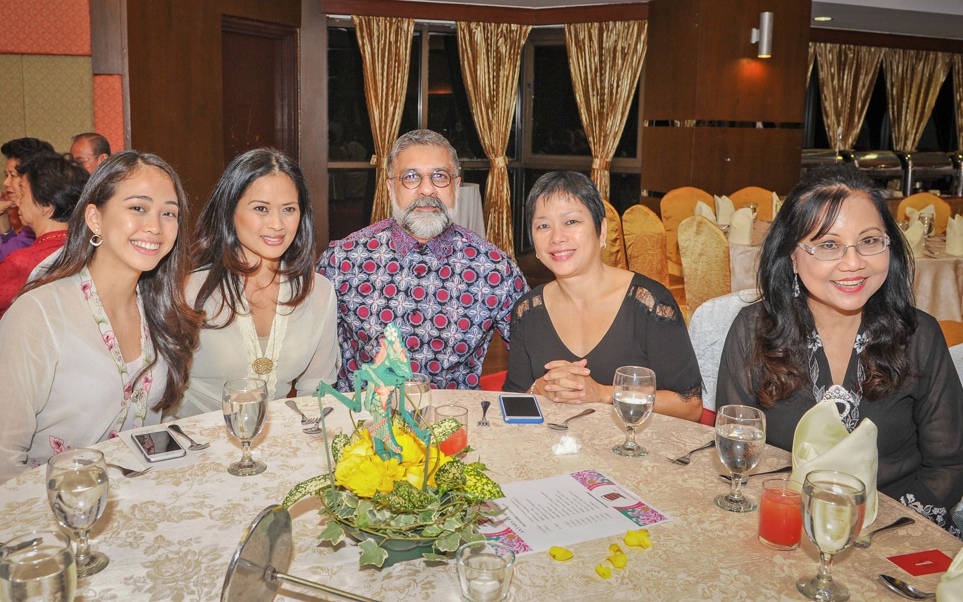 Layla Duckett, Liza Karim, Iqbal Rahim, Karen Hoh and Kelene Theseira