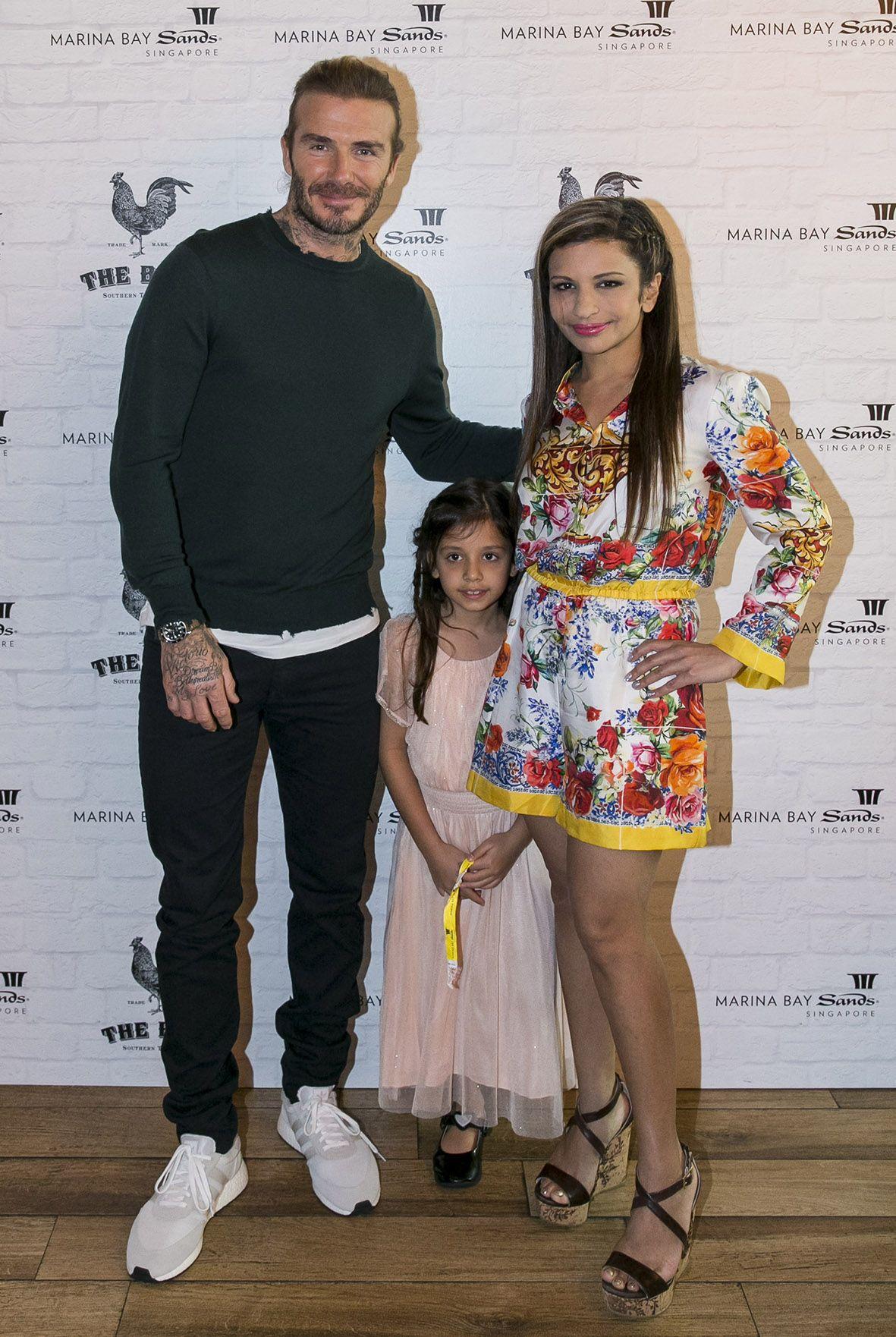 David Beckham, Sienna Jueptner, Rasina Rubin