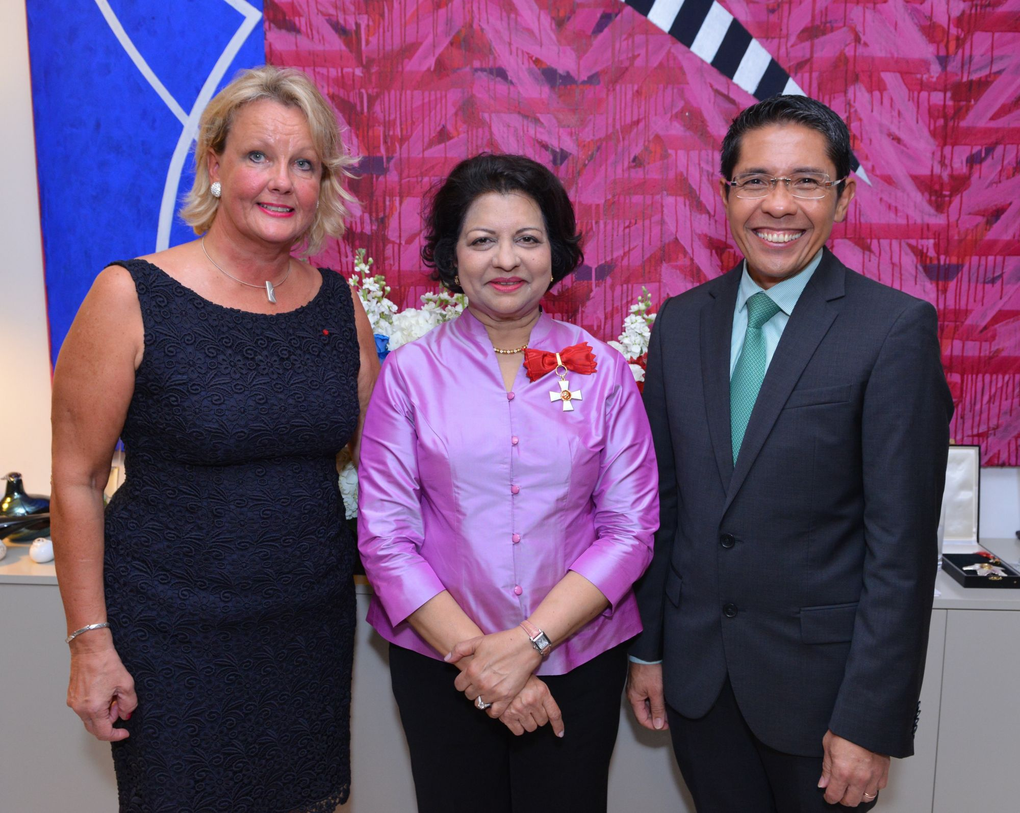 Paula Parviainen, Ambassador Jaya Mohideen, Mohamed Maliki Bin Osman