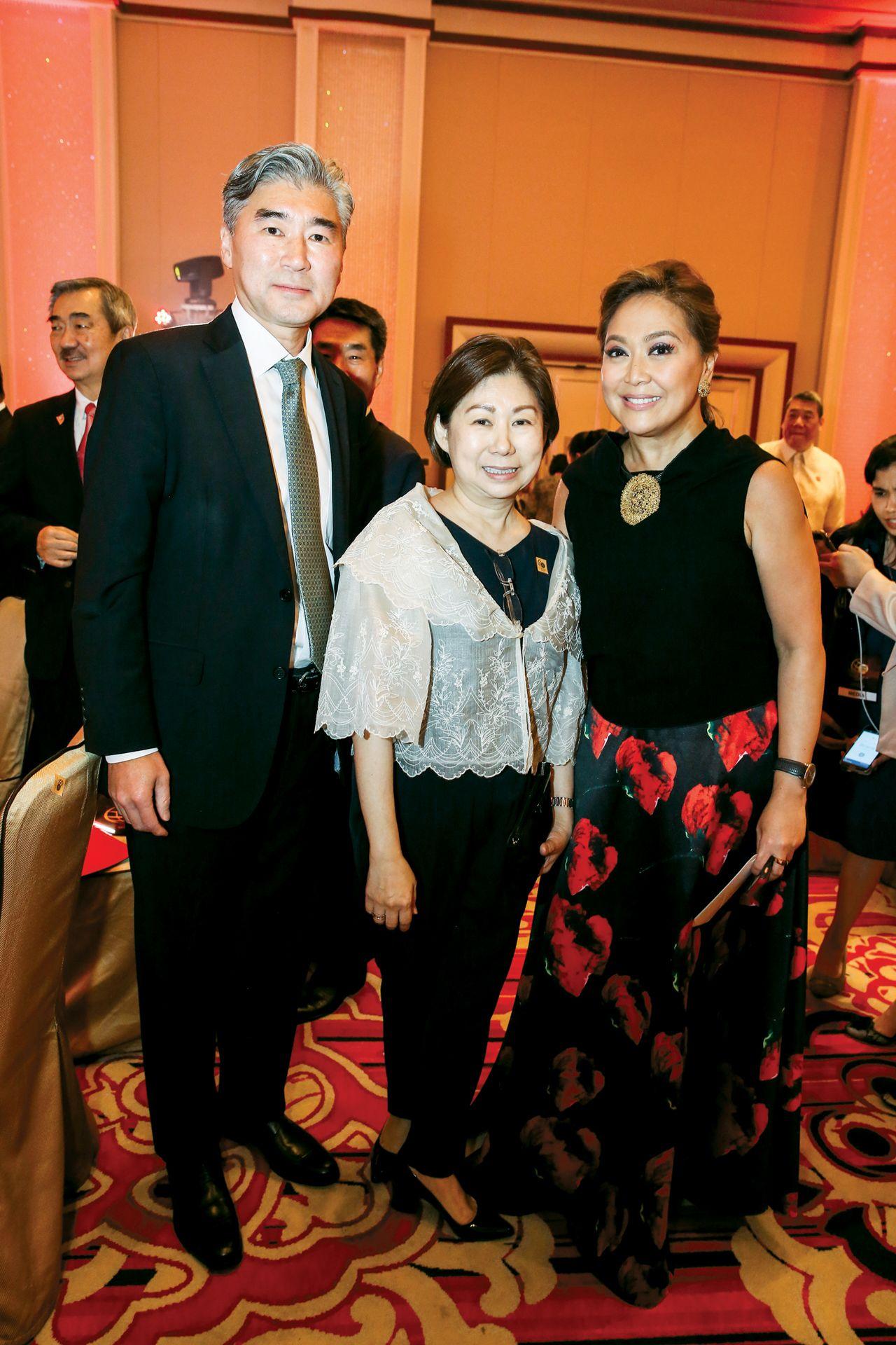 Ambassador Sung Kim,Tessie Sy-Coson, Karen Davila