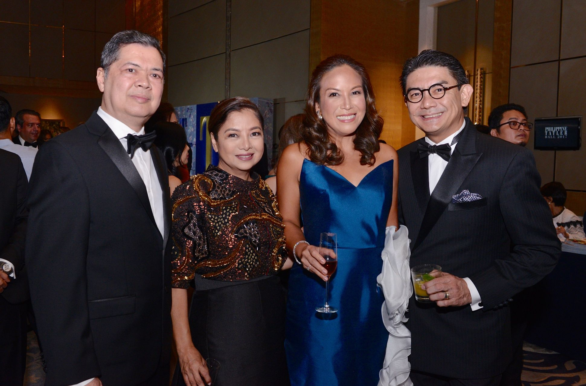Norberto and Wynn Wynn Ong with Robert and Dr. Christine Santos Francisco