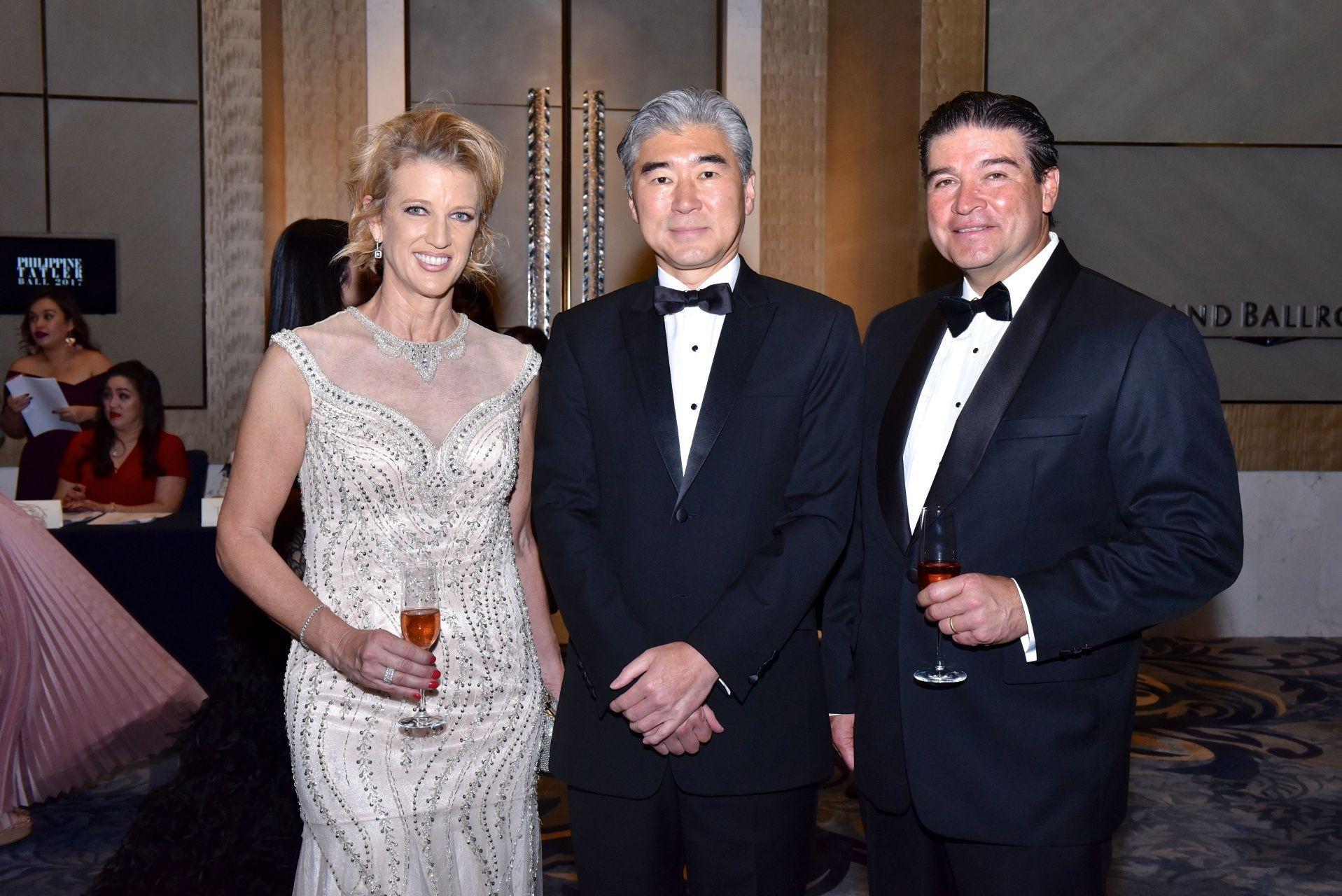 Bonnie Santos, Amb. Sung Yong Kim and Rick Santos