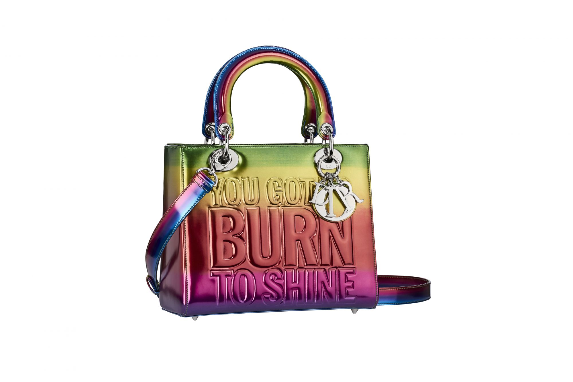 One of the two Lady Dior bags designed by John Giorno - Dior Lady Art   24cfce8608c14