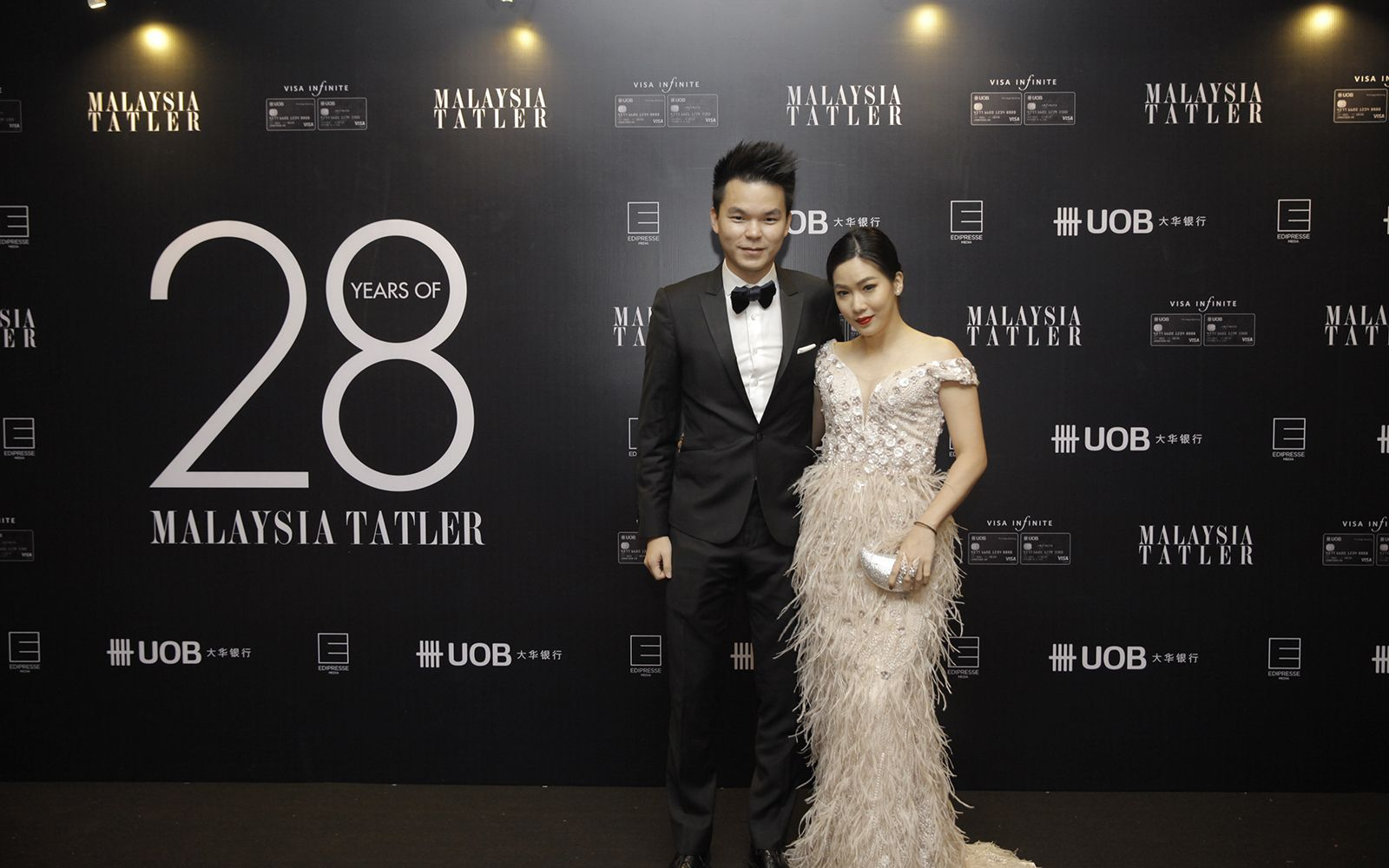 Vincent Tan and Shaine Wong in Lola gown
