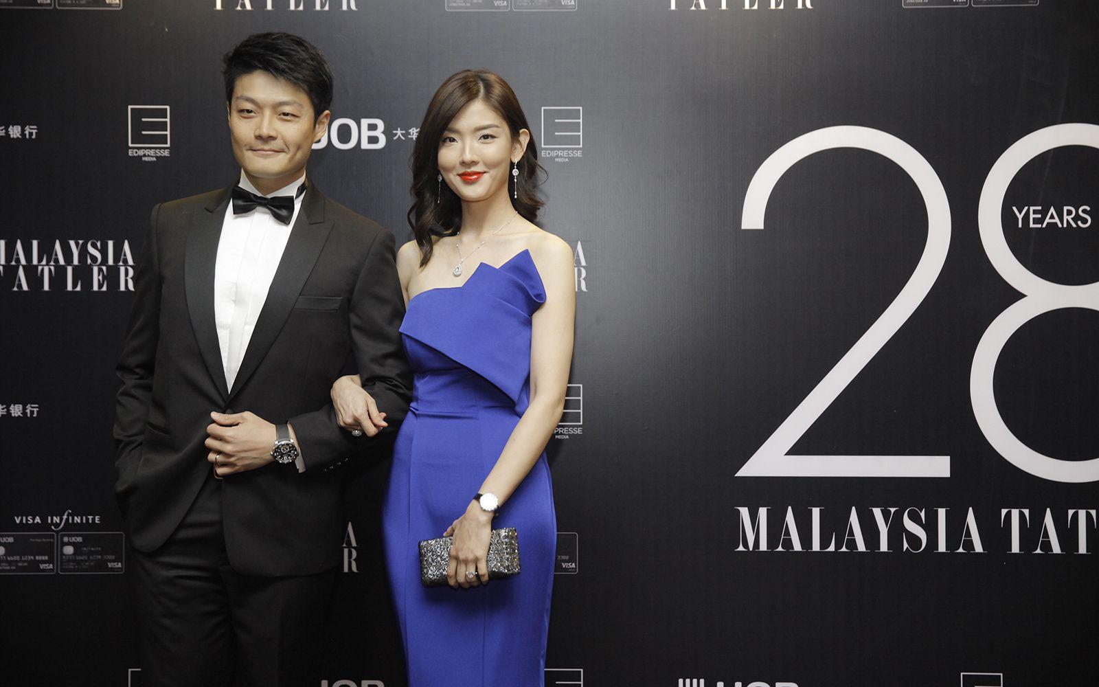Gavin Li and Yen Goh in Jadore Evening dress