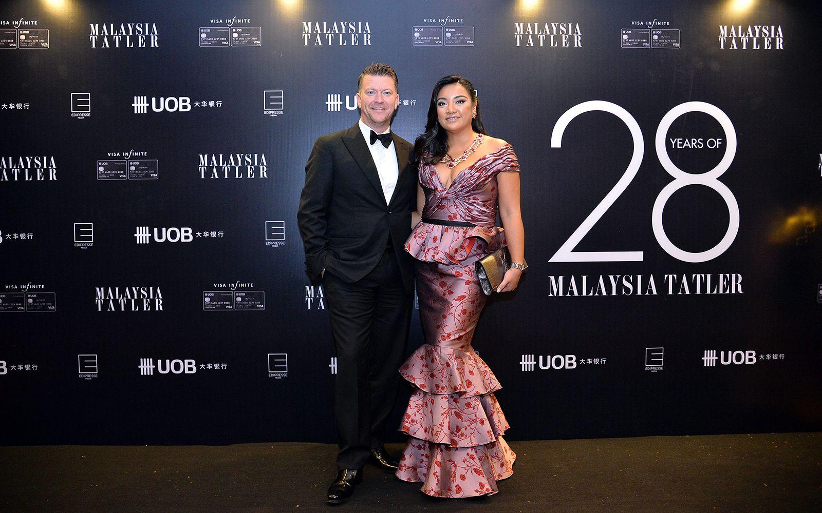 Dato' James Greaves and Tunku Datin Myra Madihah in Johanna Ortiz