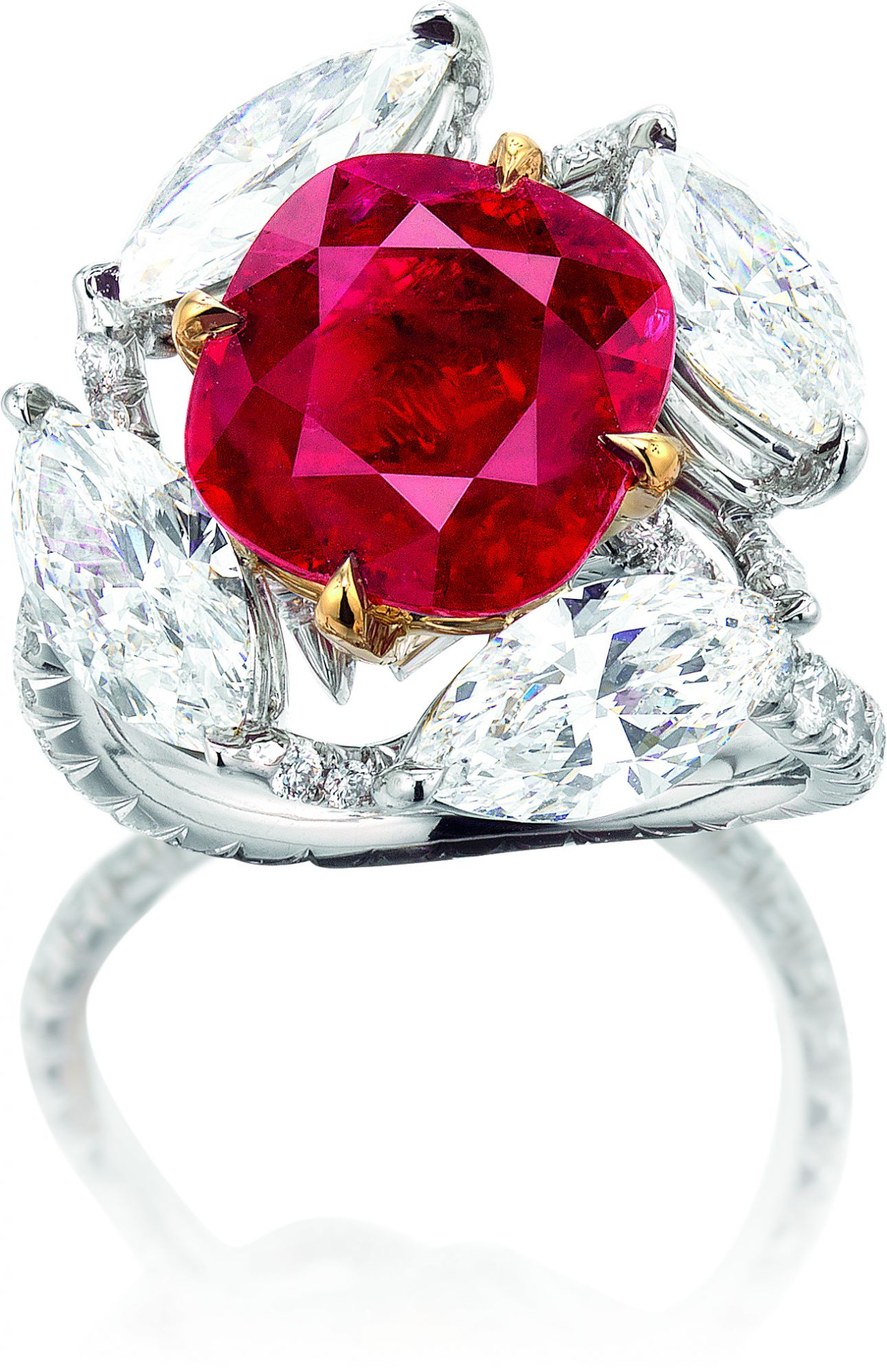 white engagement with ncia clem natural burma ruby en gold rings a peris