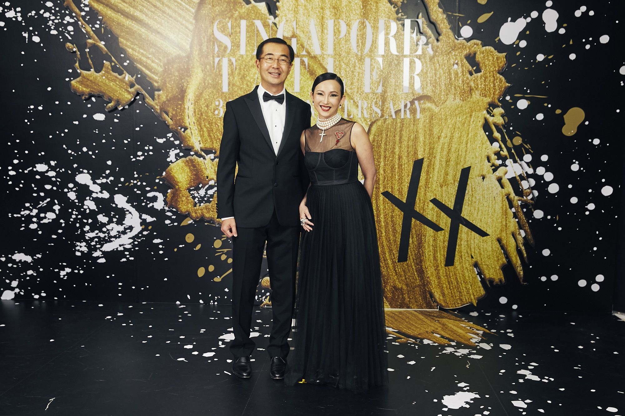 Caroline Heah in Dior, with Heah Sieu Min