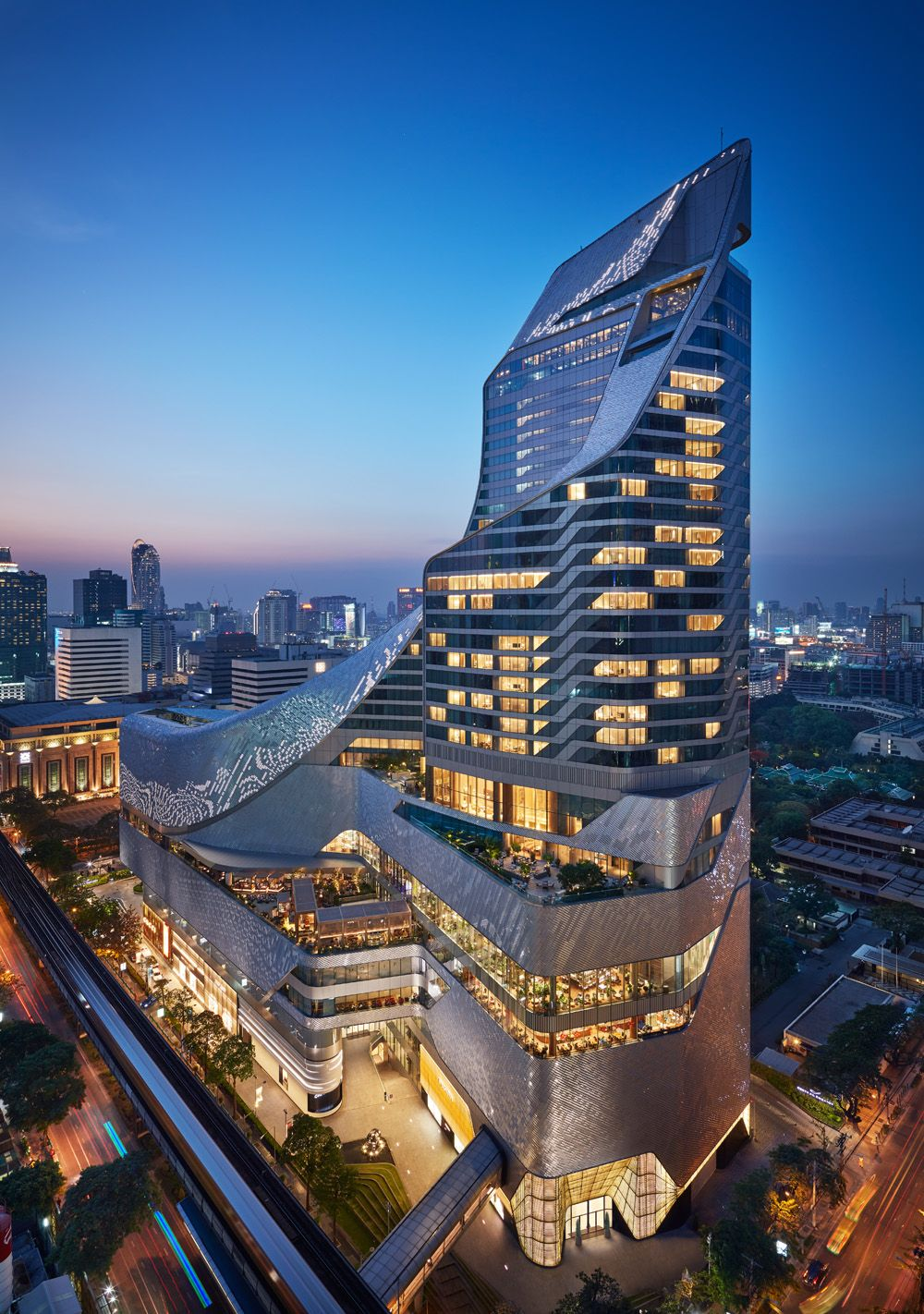 The architecture of Park Hyatt Bangkok and its adjoining mall Central Embassy were designed by AL_A