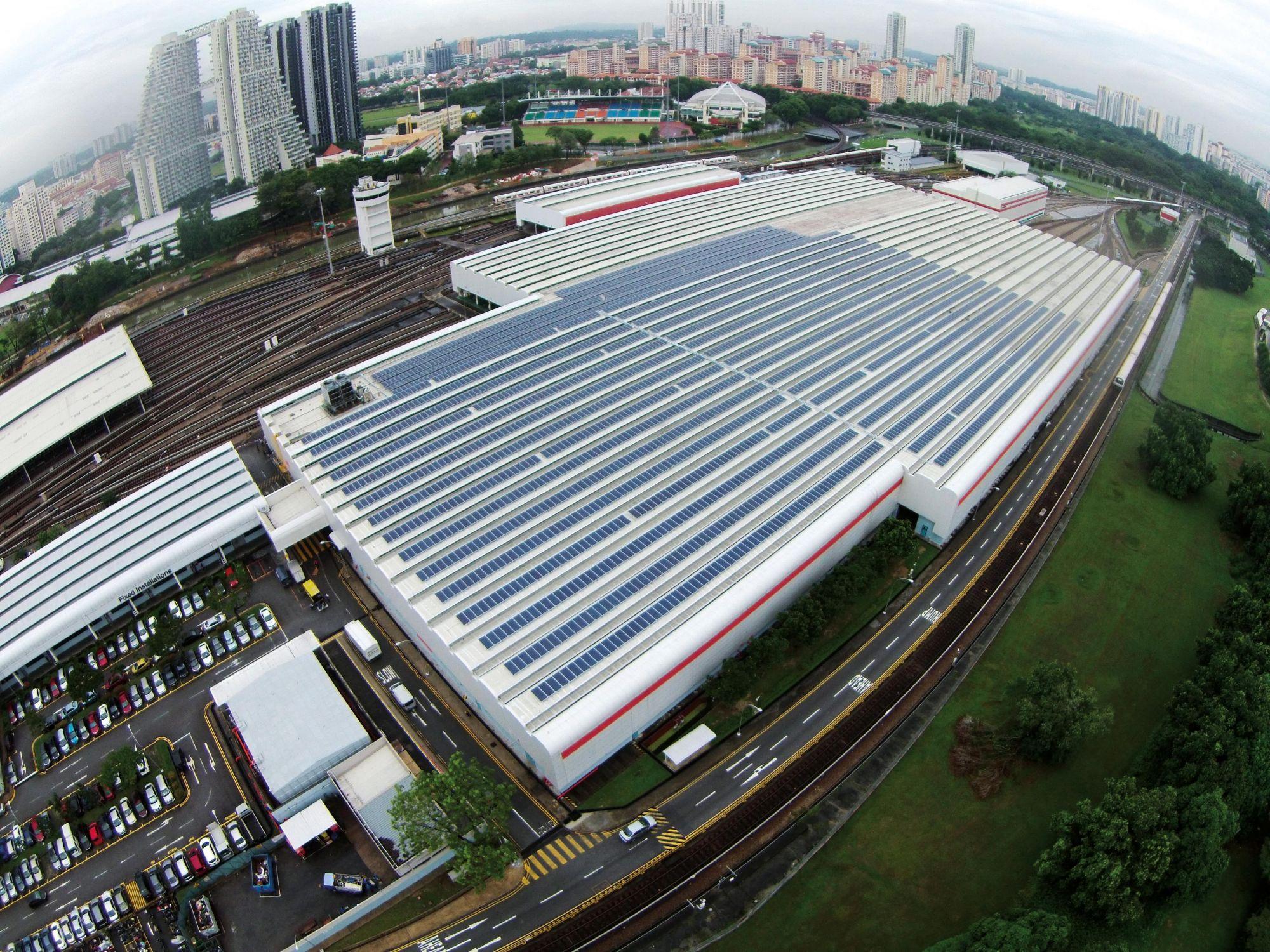 Train of Thought: Rail operator SMRT enlisted the services of Sunseap to reduce its carbon footprint by installing 10,000sqm of solar panels at its Bishan Depot.