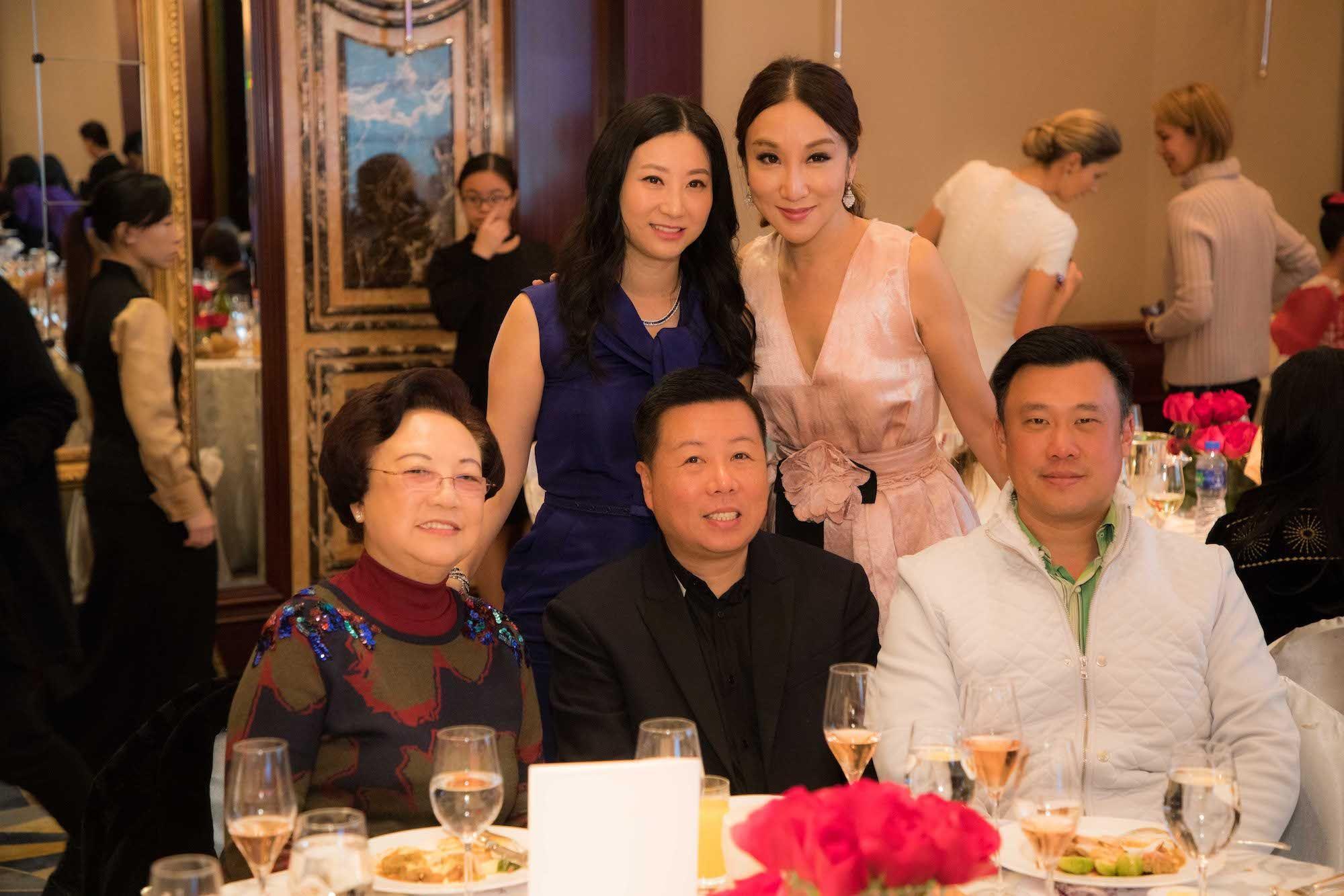 Standing - Lillian Lee-Fong, Jane Louey. Seated - Kathryn Louey, James Louey, Ryan Fong