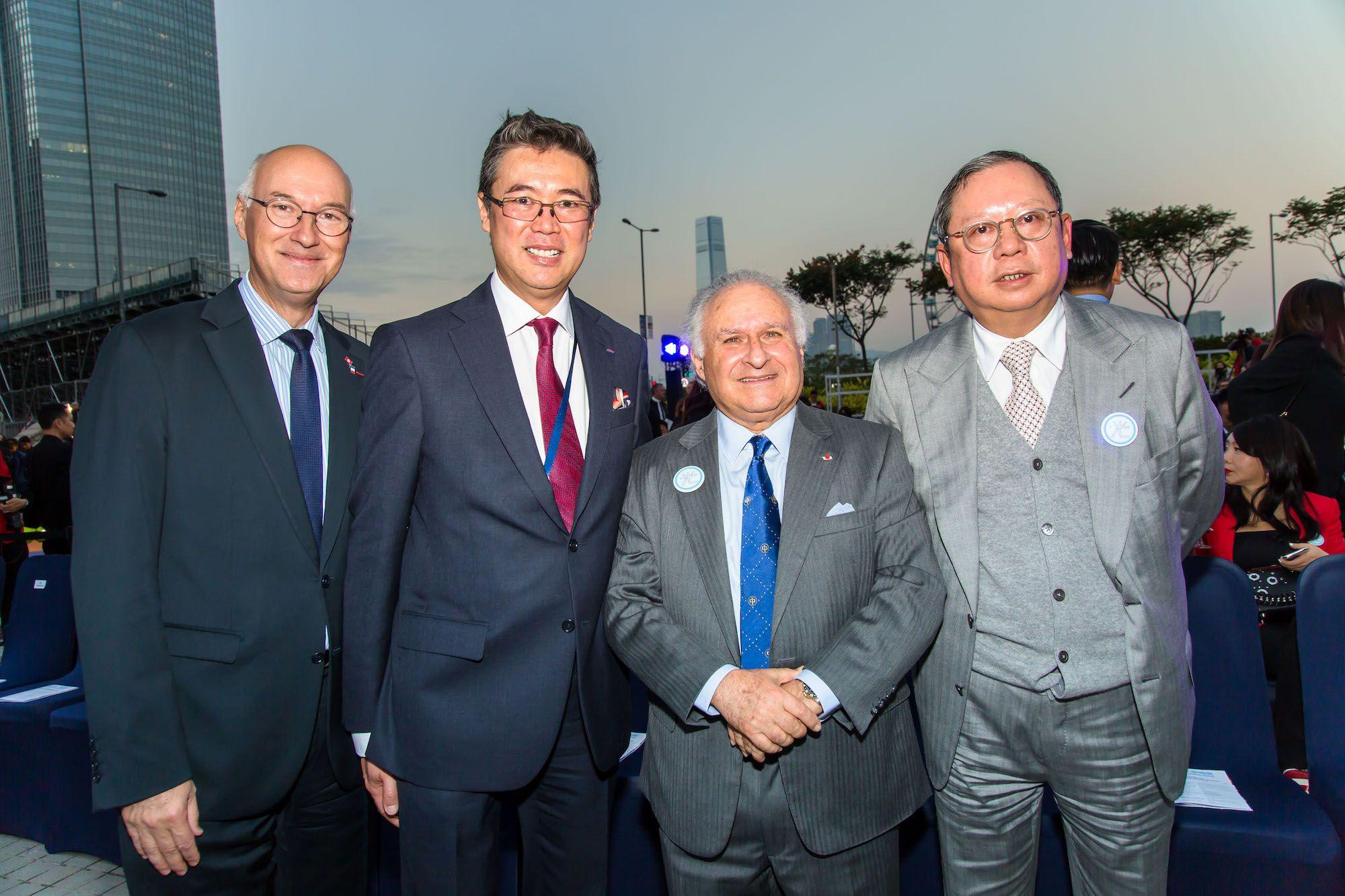 Eric Berti, Andrew Yuen, Michael Kadoorie, Peter Lam