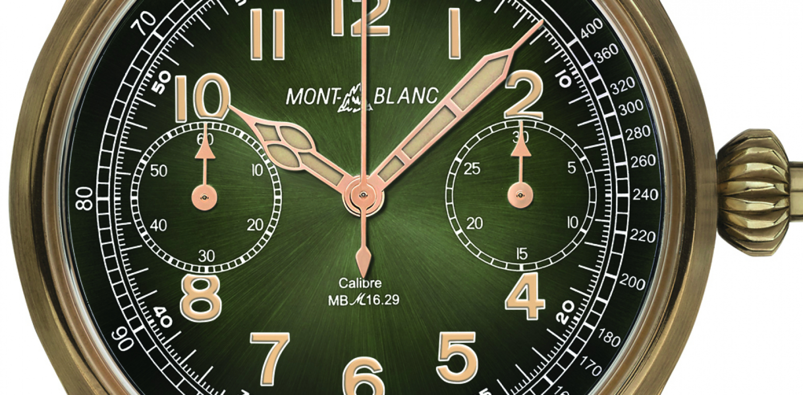 This watch houses a mighty Minerva movement in the It material of the moment: bronze. The industrial-grade material is matched with a mesmerising green dial that recalls absinthe. (Photo: Courtesy of Montblanc)