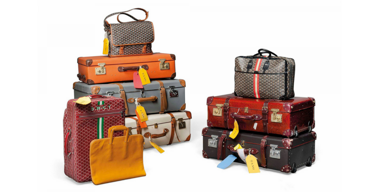 A group of travelling suitcases and bags by Globetrotter and Goyard (Photo: Courtesy of Christie's London)
