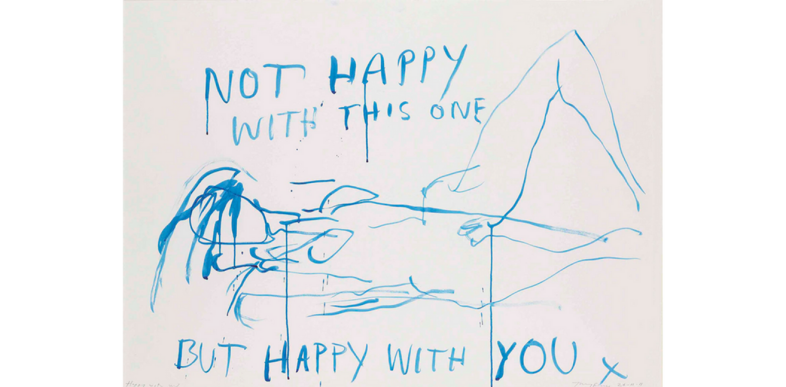 Tracey Emin, Happy With You, 81.5 cm x 111.8 cm, watercolour on paper (Photo: Courtesy of Christie's London)