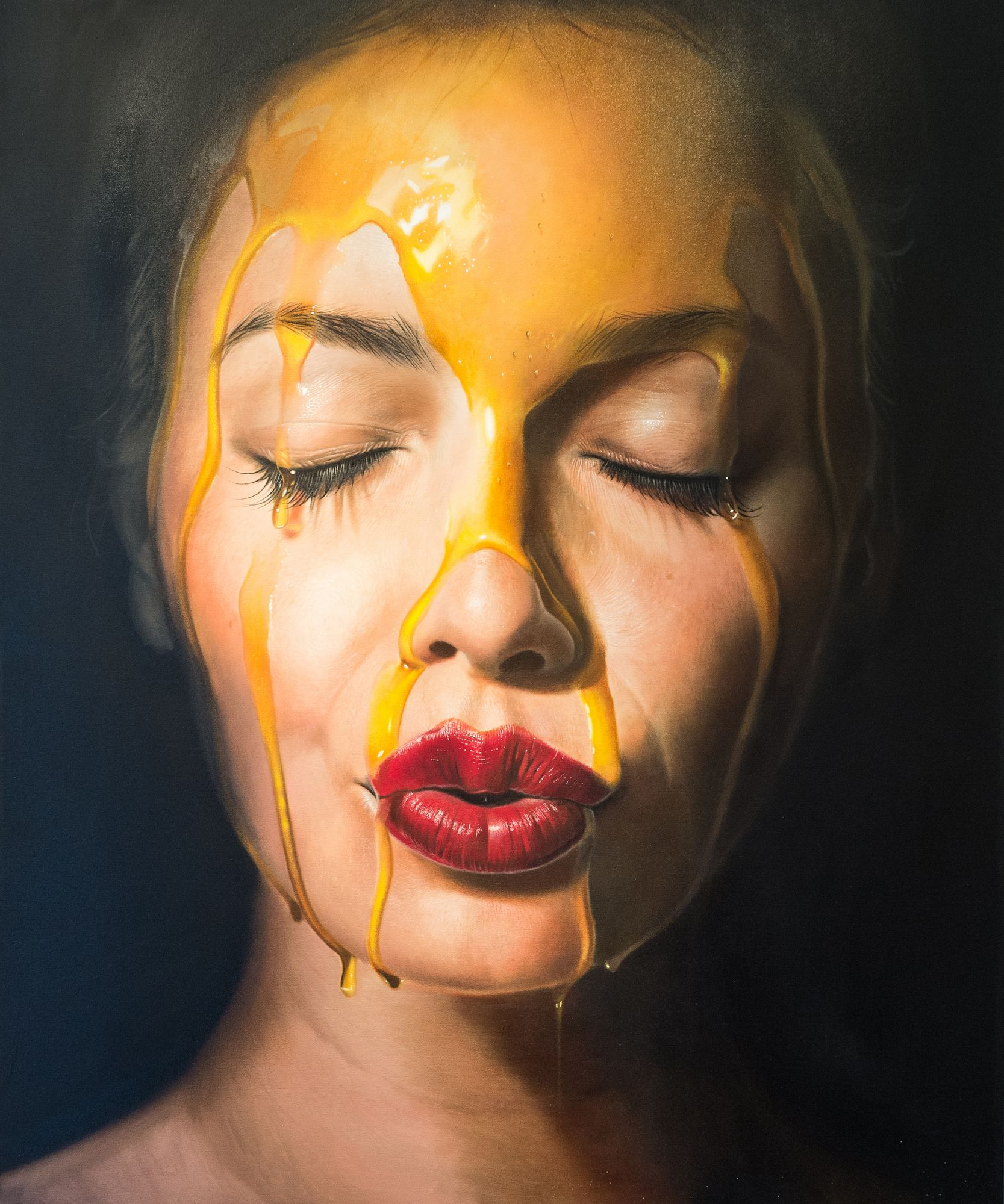 Hyperrealism in painting. Is it really possible Someone knows the author 16