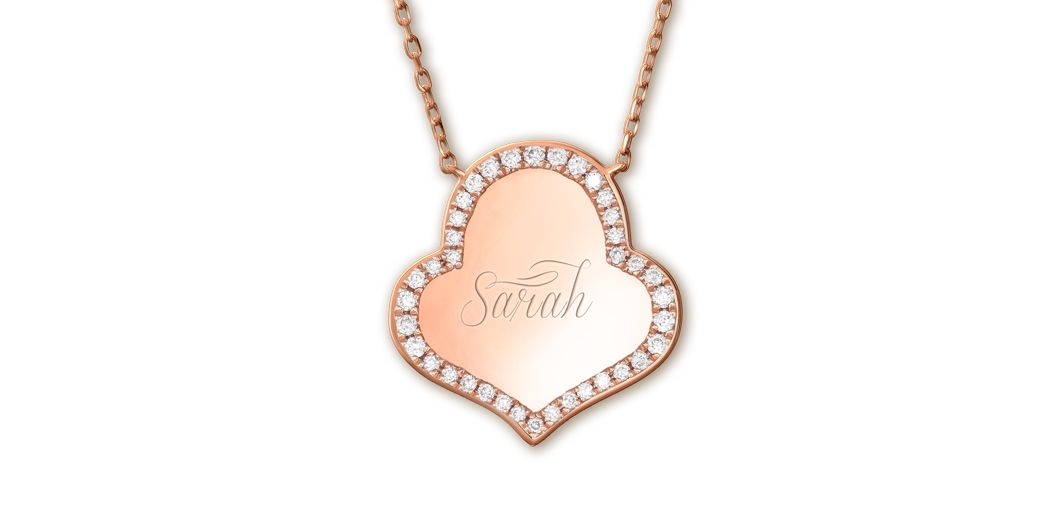 Sarah Ho monogram pendants  in rose gold