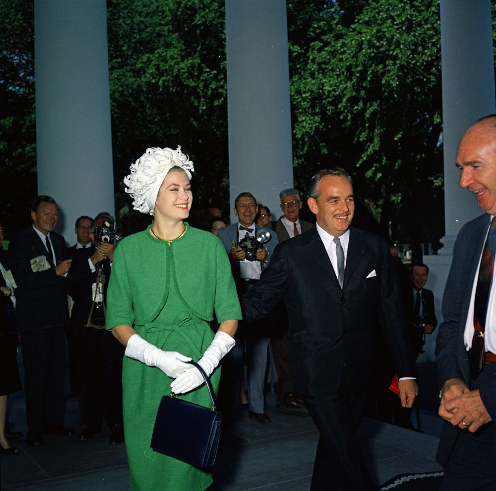 Princess Grace of Monaco visits The White House