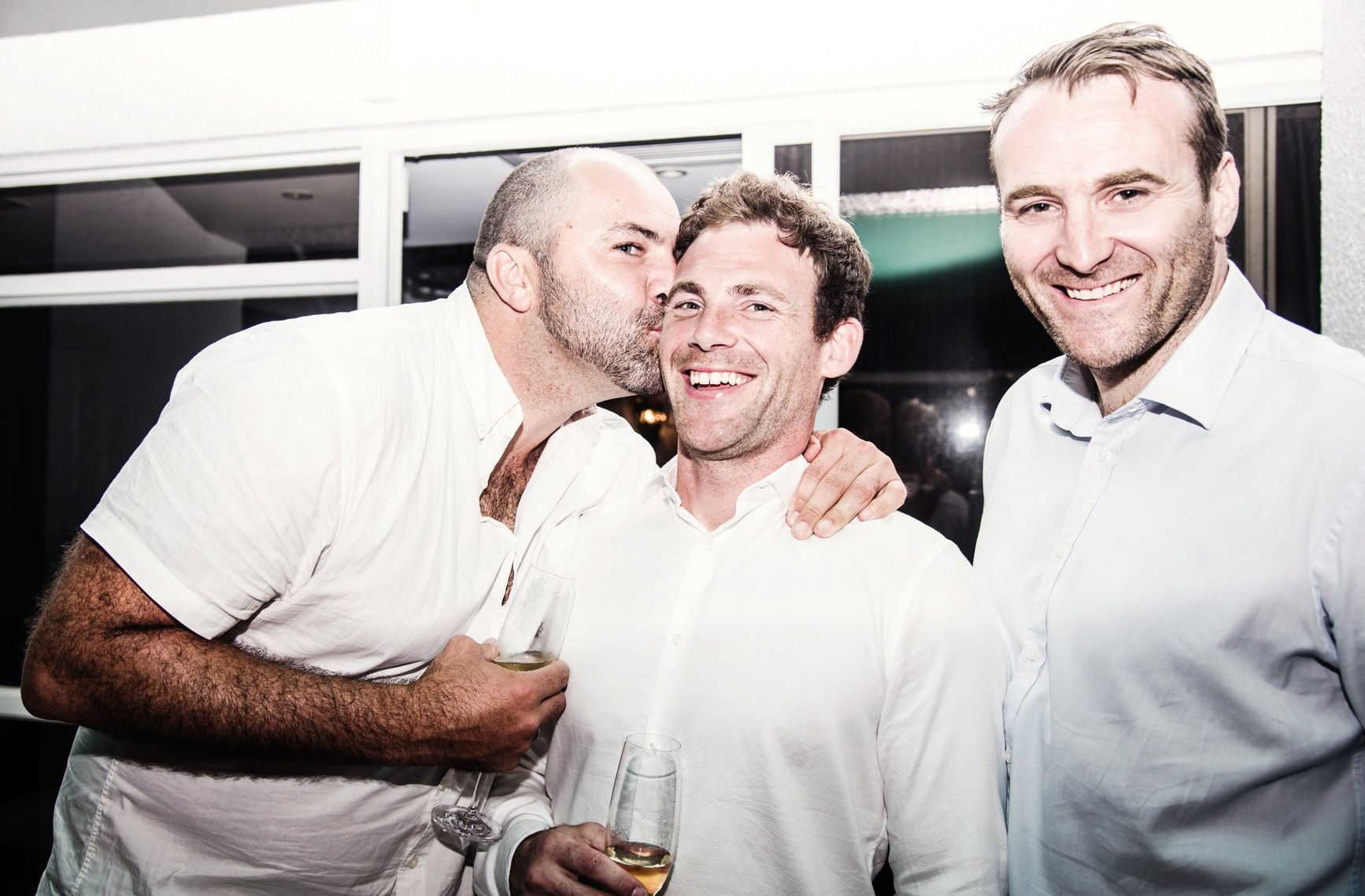 Rob Vickerman (centre) and friends