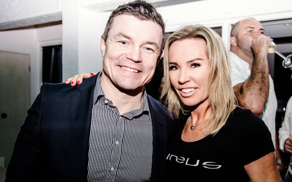 Brian O'Driscoll and Annabelle Bond