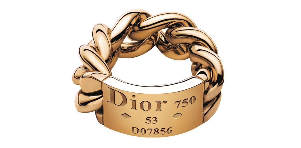 Gourmette de Dior ring in yellow gold, by Dior