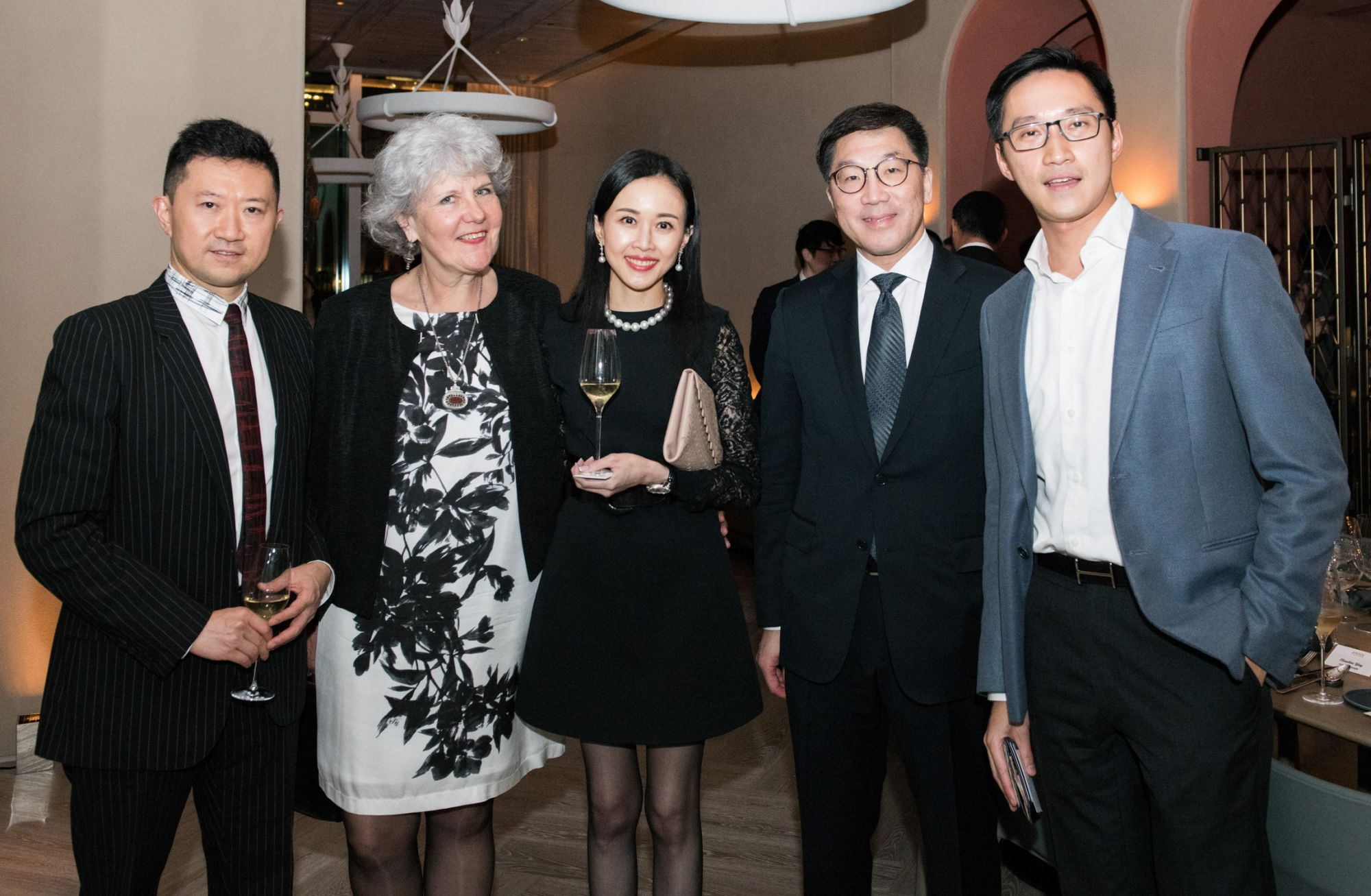 Ricky Chim, Madeleine Berti, Jacqueline Chow, Christopher Chan, Evan Chow