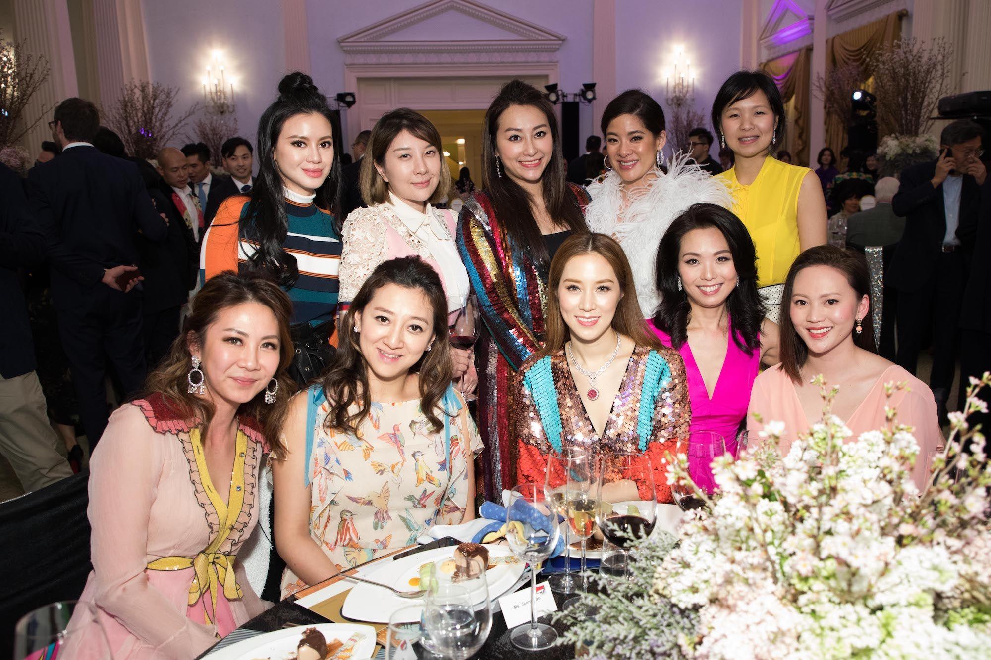 Standing - Emily Lam-Ho, Peggy Yeoh, Winnie Chiu, Sabrina Fung-Lam, Lili Ma. Seated - Adrienne Hui, Wendy Hui, Cathy Lee, Anne Wang-Liu, Ling Li