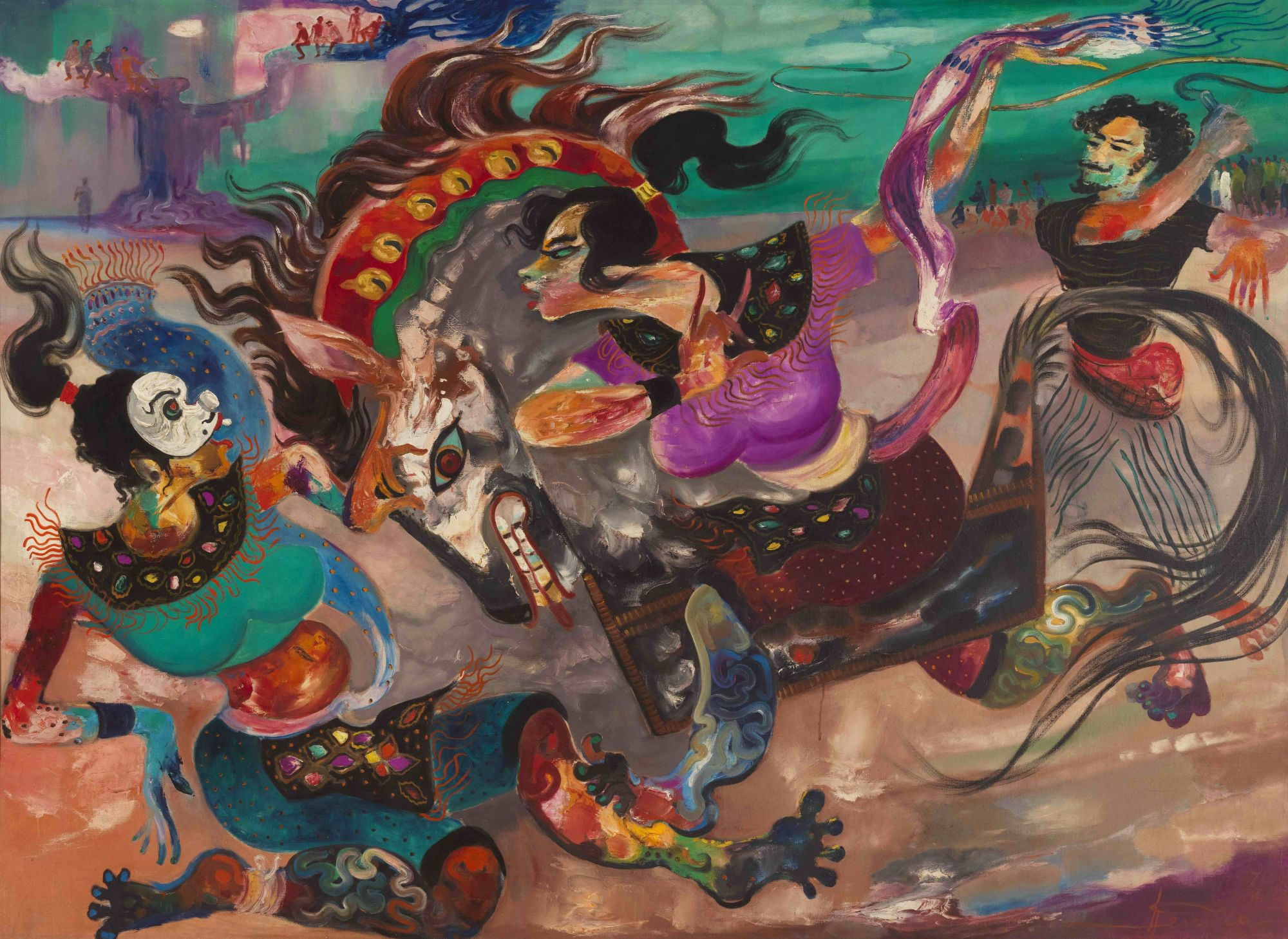 "A selection of works by Southeast Asian artists are included in Christie's auctions this season. ""Kuda Lumping"" by Indonesian artist Hendra Gunawan is valued at HK$3.5 million—5.5 million."
