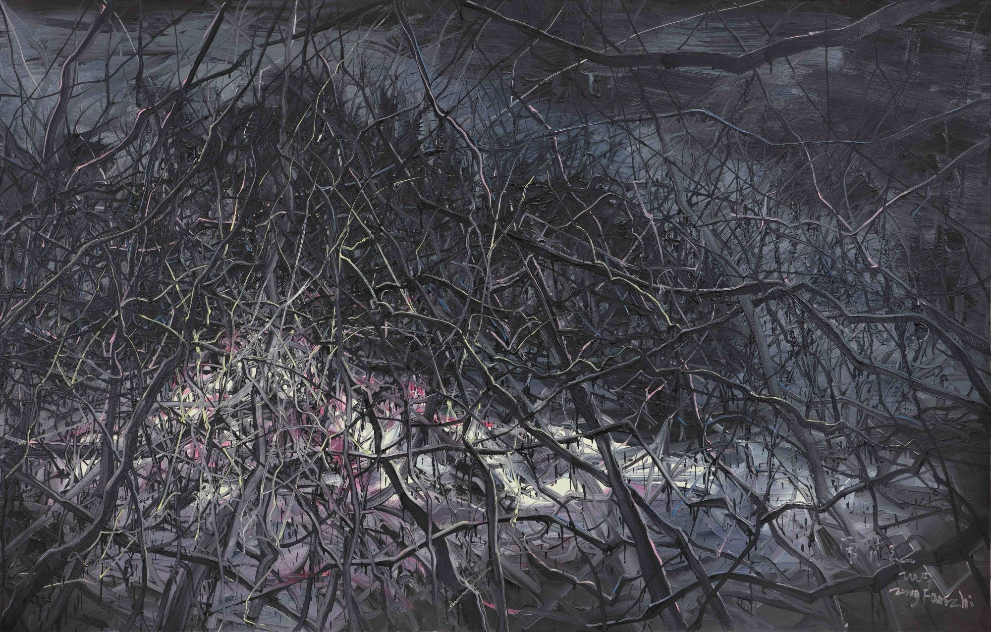 """Untitled"" by Zeng Fanzhi, one of the most famous Chinese contemporary artists, is valued at HK$8million—12 million."