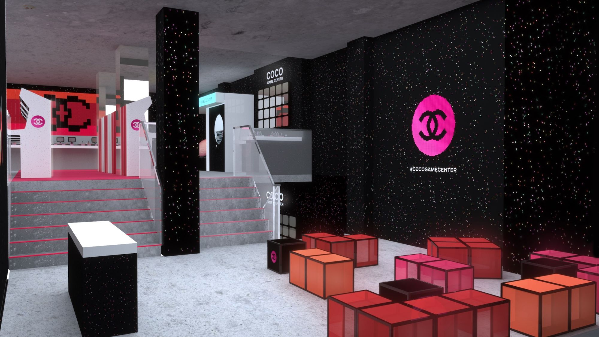 Pacman Table Game >> Game On: Chanel's Latest Beauty Pop-Up Touches Down In ...