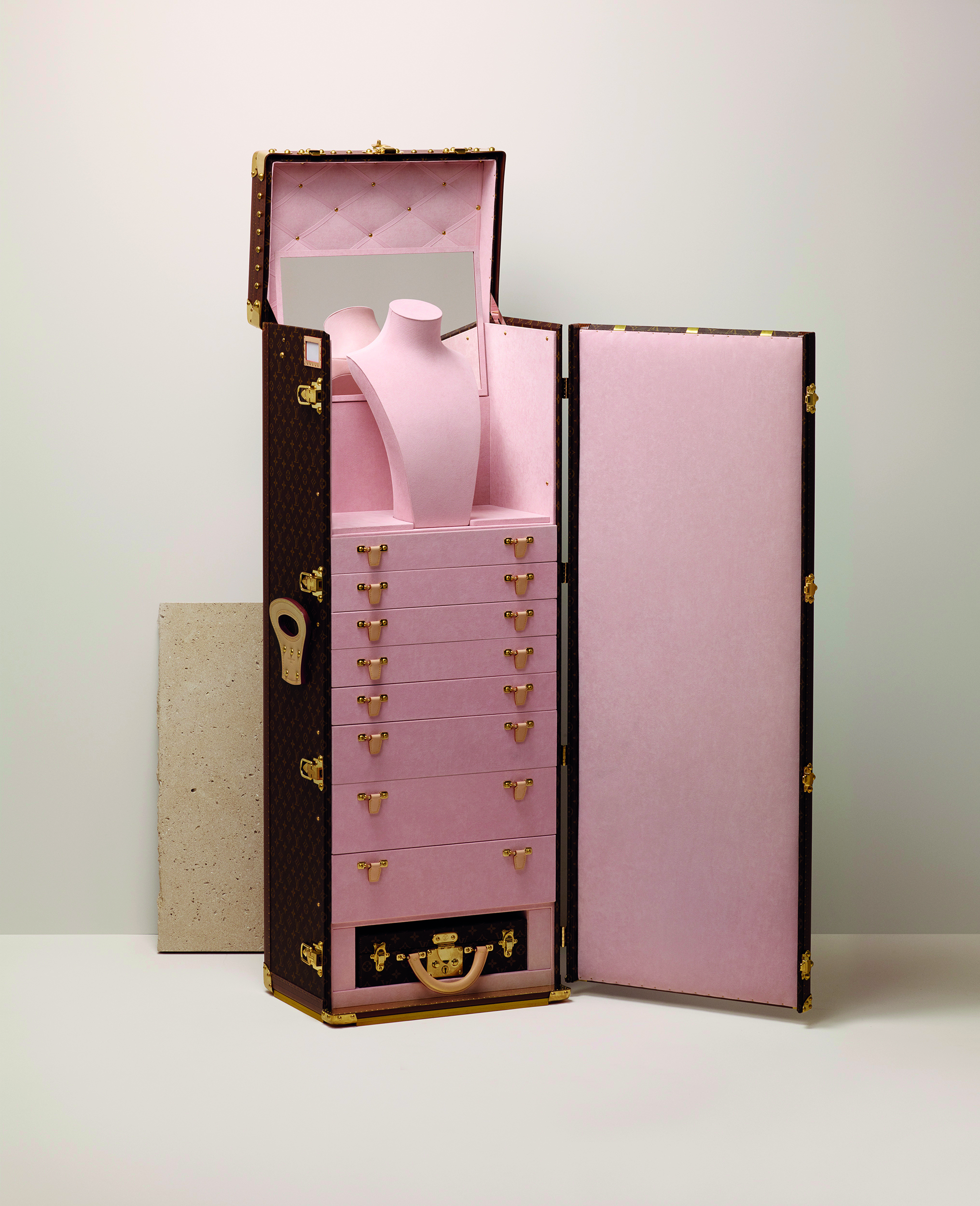 The Art Of Travel Decoding Louis Vuittons Bespoke Trunks Hong Luggage Tag Hk Love Pink Photo Courtesy Vuitton