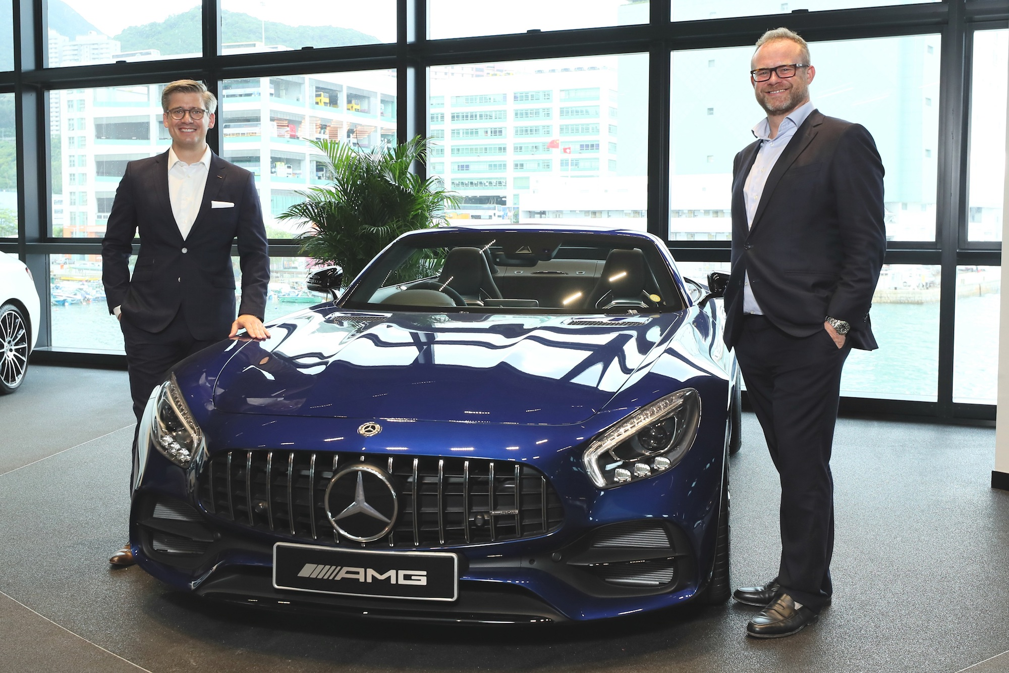 Frederik Gollob, President and CEO of Mercedes-Benz Hong Kong Ltd, Benjamin Birks, Chief Executive, Zung Fu Company Limited. Photo: Courtesy of Zung Fu