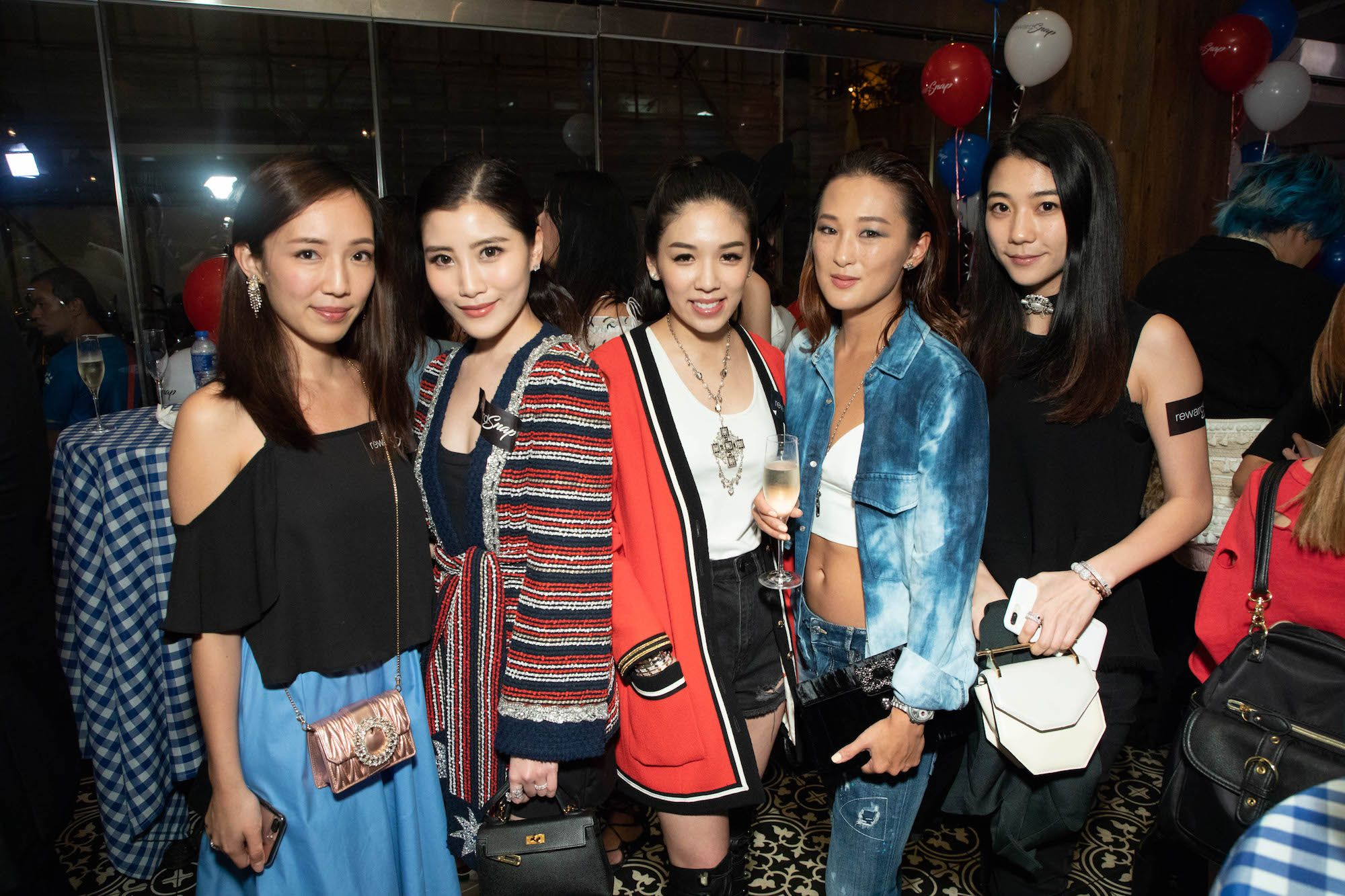 Christine Fok, Chryseis Tan, Carmen Yim, Antonia Li, Vincy Yeung