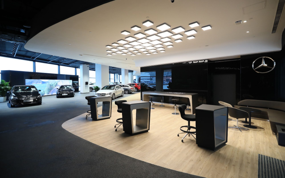 The new Mercedes-Benz Branding Centre Showroom. Photo: Courtesy of Zung Fu