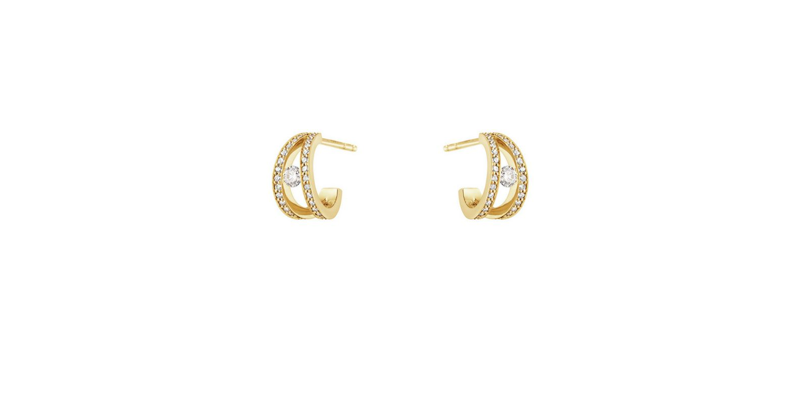 Gold And Diamonds Collide For The Georg Jensen Halo