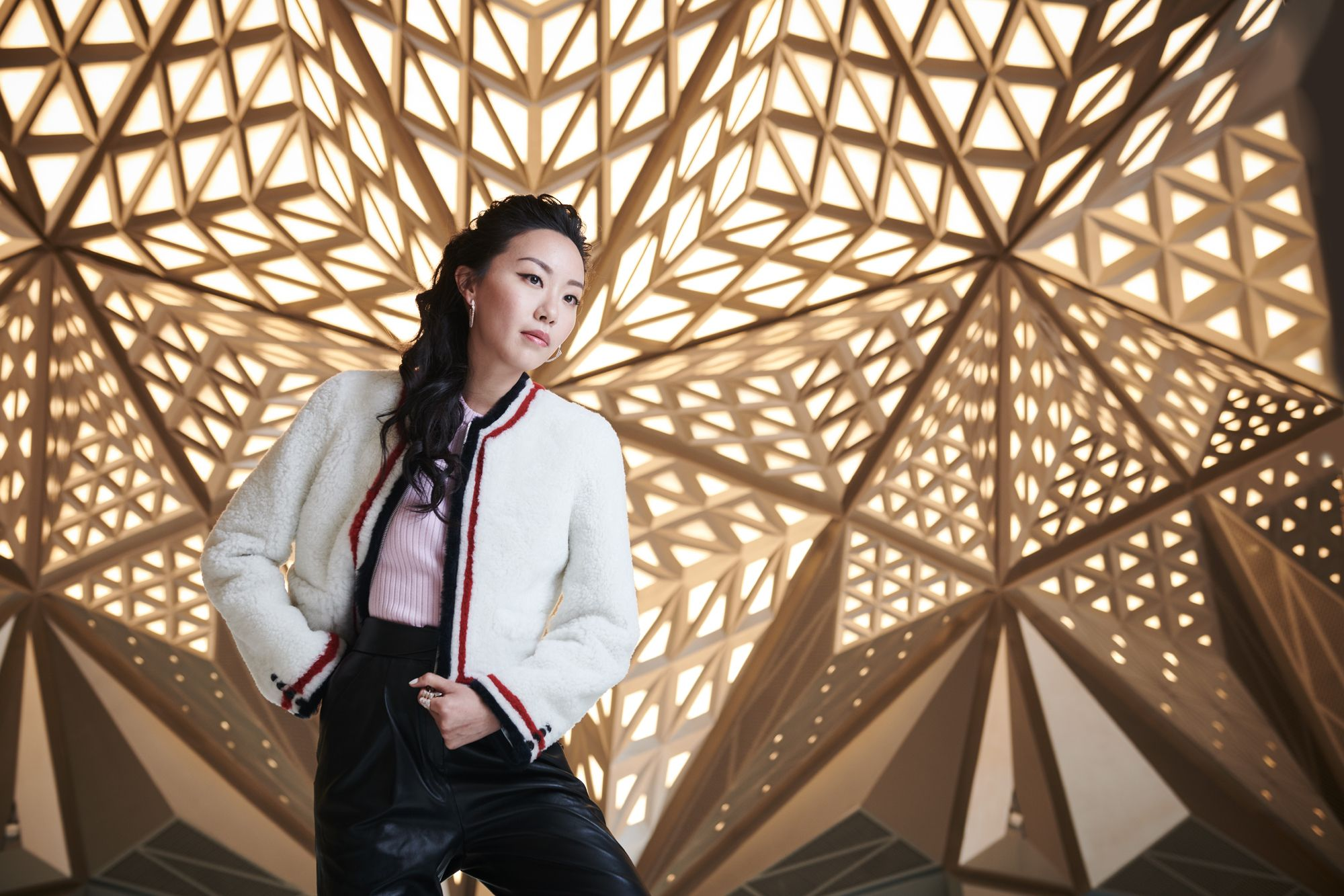 Ruth Chao at the Morpheus lobby (Photo: Moses Ng/Hong Kong Tatler)