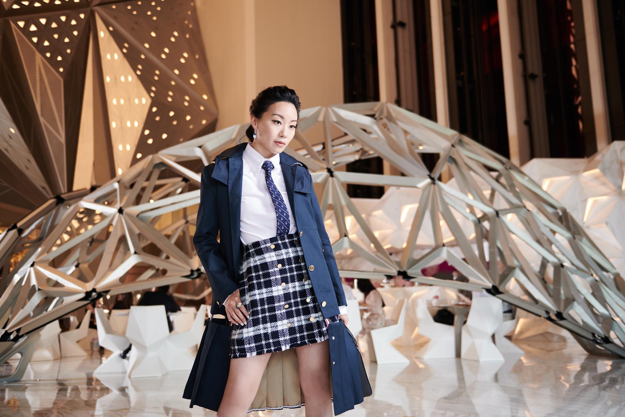 Ruth Chao at the Pierre Hermé Lounge (Photo: Moses Ng/Hong Kong Tatler)