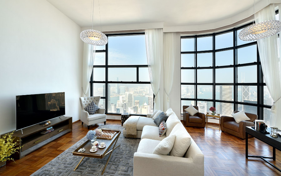 Floor-to-ceiling windows let plenty of light in