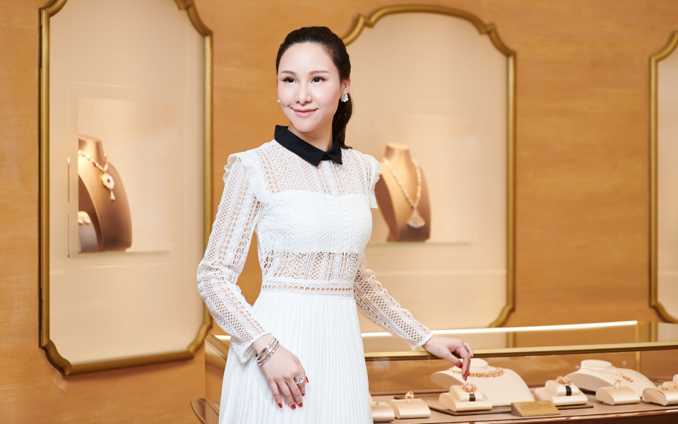 Stephnie Shek at Bulgari, Landmark Chater
