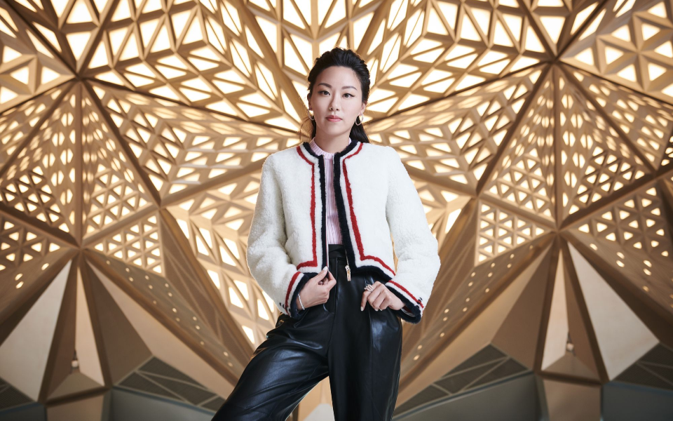 Ruth Chao at the Morpheus lobby (Photo: Moses Ng/Hong Kong Tatler)